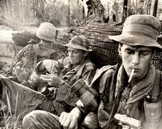 Vietnam War reporters - Martin Stuart-Fox and photographer Tim Page in Vietnam.