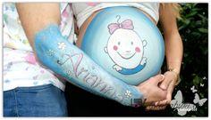 BELLY PAINTING OLATZ Lola Kabuki #painting #belly #pregnancy #pinturas #embarazo