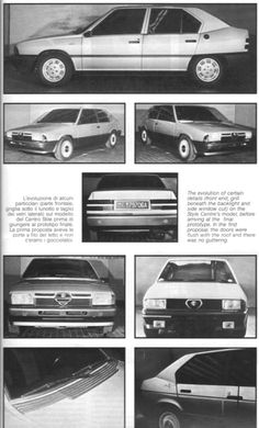 OG | 1983 Alfa Romeo 33 | 4-door epowood full-size proposed by Alfa Romeo Style Centre lead by Ermanno Cressoni