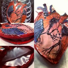 Anotomical heart -Small clutch bag.