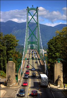 Lions Gate Bridge, Vancouver, British Columbia, Canada (spectacular approach and crossing) Vancouver Bc Canada, Vancouver Island, Stanley Park Vancouver, Vancouver Travel, Victoria Canada, O Canada, Canada Travel, Quebec, Calgary