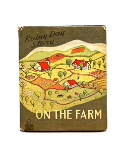 Rainy Day Story  Vintage Children's Book  On the by SunshineBooks