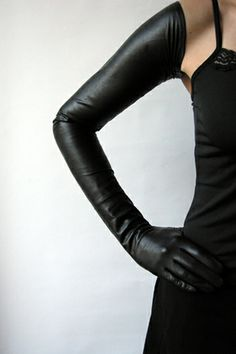2bd6c394ca2 Extreme Long Black Leather Gloves