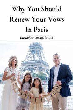 Why you should renew your wedding vows in Paris. Paris is the capital of romance, and the most amazing place for a marriage vow renewal. Parisian Wedding Dress, Paris Wedding, Wedding Vows, Romantic Paris, Beautiful Paris, Romantic Couples, Paris Couple, Vow Renewal Ceremony, Vow Renewals