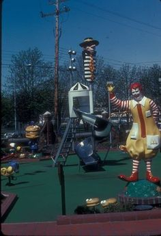 Granville and 3 road Richmond old photo of McDonalds playground...the place is still there with the big golden arches since 1967.