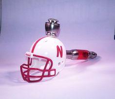 40da4973 Nebraska Corn Huskers   Helmet Pipe   Straight Design   Nickel Finish    Smoking Pipe by DCHelmetPipes on Etsy