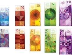inspiring patterns that could be potentially used in later banknotes.