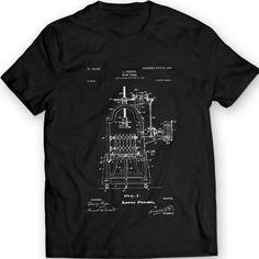 Weinlese Wein Presse Patent T-Shirt