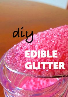 DIY edible glitter recipe-does not say baking temp but other recipes say 350 for 10 mins Cake Cookies, Cupcake Cakes, Cupcakes, Just Desserts, Delicious Desserts, Dessert Recipes, Cake Decorating Tips, Cookie Decorating, Yummy Treats
