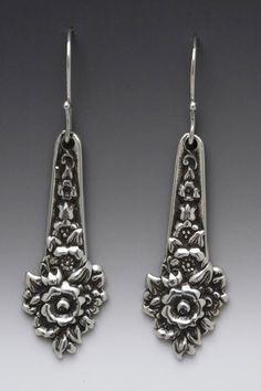 vintage silver demitasse spoon earrings louise pattern