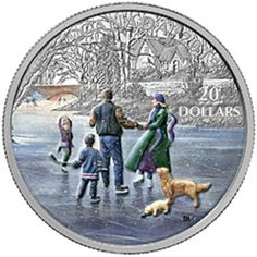 2015 $20 Winter Scene: Ice Dancer Fine Silver Coin 1.009 Troy Ounce '15 Royal Canadian Mint RCM