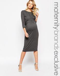 Isabella Oliver Wrap Front Midi Dress