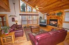 Bear Britches Lodge - There is plenty of parking for at least 6 vehicles. This beautiful cabin is nestled in a wooded area.