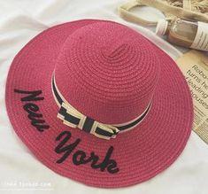 2741fb5452a Summer Hats For Women Sun Hat Ladies Wide Brim New York Straw Outdoor  Foldable Beach Panama Bucket Hat Cap Chapeu Feminino