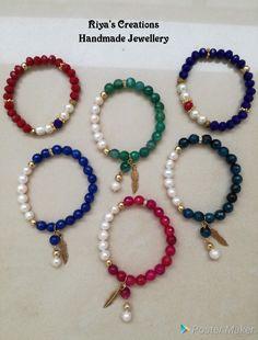 Diy Jewelry Projects, Jewelry Crafts, Jewelry Art, Jewelry Bracelets, Jewelery, Gemstone Bracelets, Jewelry Design, Bead Jewellery, Beaded Jewelry