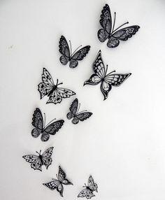 Red Ink Tattoos, Dainty Tattoos, Feminine Tattoos, Sexy Tattoos, Cute Tattoos, Flower Tattoos, Butterfly Thigh Tattoo, Butterfly Tattoo Designs, Back Of Thigh Tattoo