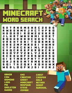 Minecraft Word Search