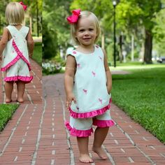 5/30/2013  Flamingo Embroidered Crossback Short Set
