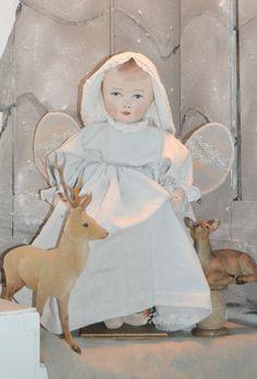 Een kerstengel pop van stof  (Door Nelleke Hoffland)