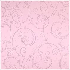 Perfect Princess Pink Glitter Scroll Wallpaper - Wall Sticker Outlet