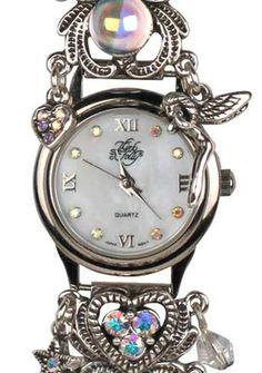 KIRKS FOLLY DRAGON'S QUEST BRACELET WATCH antique silvertone - Knight - Fairy   eBay