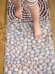 DIY Sensory Rugs for Kids | Montessori Nature -- what a cool idea!