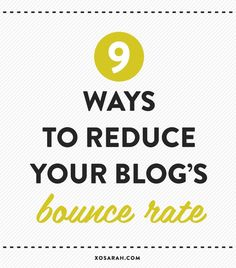 If users are reading only one post on your site before taking a hike they might never come back, so here are a whole bunch of ways you can help to lower your bounce rate and better connect with your audience. Business Tips, Online Business, Bounce Rate, Tips & Tricks, Blogging For Beginners, Make Money Blogging, Blog Tips, Social Media Tips, Content Marketing