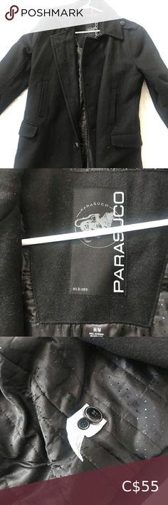Men's Parasuco long wool coat size Medium Jacket is in excellent condition.No flaws Parasuco Jackets & Coats Pea Coats Long Wool Coat, Plus Fashion, Fashion Tips, Fashion Trends, Flaws, Leather Jacket, Man Shop, Medium, Jackets