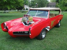 1966 Pontiac Custom GTO built by Dean Jeffries Monkeemobile for the Monkees General Motors, Convertible, Pontiac Tempest, Grand Chef, The Monkees, Unique Cars, Pontiac Gto, Collector Cars, Car Car