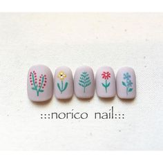 The flower design, not the nail color
