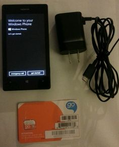 NOKIA LUMIA 520 AT&T GO PHONE Smartphone Cell No Contract GSM 5MP Windows 8 #Nokia #Bar