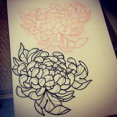 gerald-feliciano-tattoo:  Homework. Super honored to do this Chrysanthemum for @woodzart neck