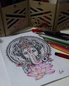 Tattoo Elephant Ganesha Hindus 63 Ideas For 2019 Symbol Tattoos, Hindu Tattoos, Buddha Tattoos, Love Tattoos, Arm Tattoos, Body Art Tattoos, Tattoo Drawings, Tattos, Tattoo Bh