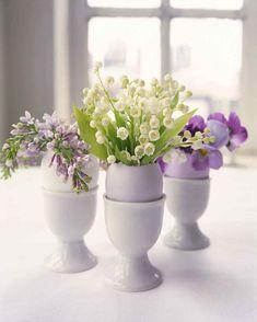 Stoffblumen Frühlingsdeko Osterdeko Tischdeko Zweige Dekoast lila flieder rosa