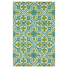 Hand-hooked indoor/outdoor rug with a Spanish tile-inspired motif.   Product: RugConstruction Material: 100% Pol...