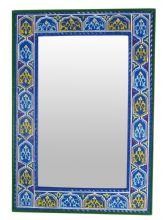 Moroccan zouak Mirror zwak beautiful & unique crafted by an artist in Marrakech who specialises in refurbishing old Riads & painting ceilings in ancient Zouak style Moroccan Mirror, Tile Decals, Frame Crafts, Hand Engraving, Sink, Glass, Handmade, Painting, Etsy