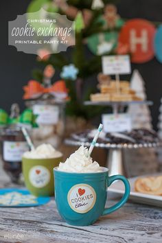 Christmas Cookie Exchange Party -- free printables