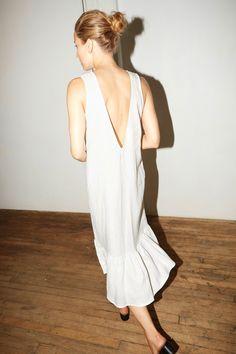 Datura White Linen Carmen Dress - 2