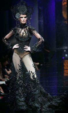 Tex Saverio - Haute Couture - Robe 'Sculpture' - Noir