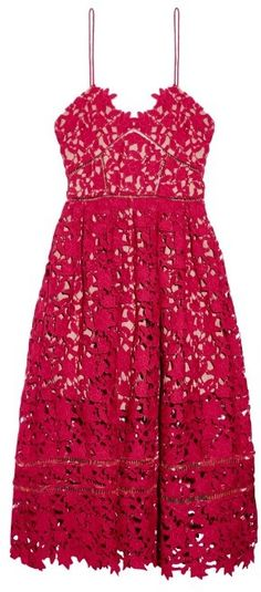 Self-portrait Azaelea floral-lace midi dress
