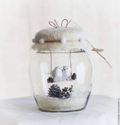Decoration Diy - Welcome OyunRet Christmas Jars, Homemade Christmas, Simple Christmas, Globe Crafts, Diy And Crafts, Christmas Crafts, Christmas Ideas, Mason Jar Crafts, Bottle Crafts