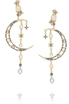 Percossi Papi | Gold-plated multi-stone earrings