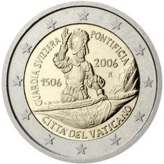 2 euro coin Anniversary of the Swiss Guard Piece Euro, Timbre Collection, Swiss Guard, World Aids Day, Euro 2012, Euro Coins, Commemorative Coins, World Coins, Coin Collecting