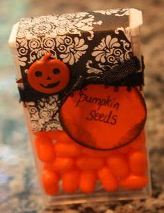 """""""Pumpkin seeds"""" make a cute giveaway for Halloween"""