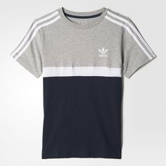 adidas - T-shirt Colorblocked Mens Tee Shirts, Mens Sweatshirts, Cool Shirts, T Shirts For Women, Adidas Outfit, Adidas Shirt, Adidas Men, Personalized T Shirts, Shirt Style
