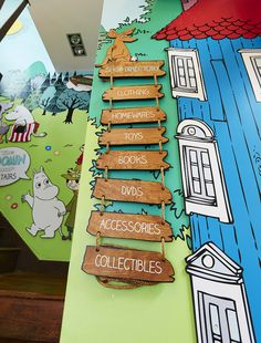 PLANarama for The Moomin Shop. Moomin Shop, Moomin Valley, Retail Interior, Interiors, Toys, Holiday Decor, Shopping, Home Decor, Activity Toys