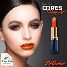 Os batons em tons laranjas vão ser os favoritos desta primavera-verão!  Aposte! #Makeup #Tons #Favoritos #Tendência #ShoppinhoSantoAndré