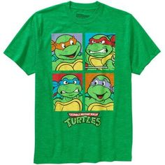 Teenage Mutant Ninja Turtles Group Men's Graphic Tee, Size: Small, Green