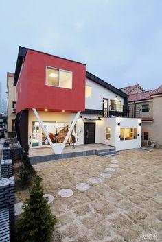 동탄주택 : 모던스타일 주택 by 춘건축