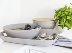 Nature tray is available in two handy sizes: 38 x 27 cm and x 34 cm. Decorative Bowls, Bamboo, Alternative, Tray, Plastic, Dishes, Tableware, Kitchen, Nature